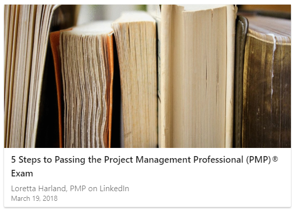 Linked In article - passing PMP exam